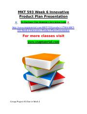 MKT 593 Week 6 Innovative Product Plan Presentation.doc