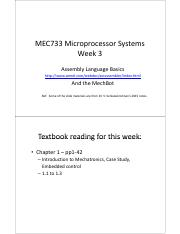 mec733 Week 3 - assembly language.pdf