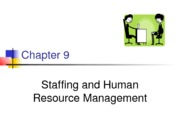 Chapter 9-Stafing and human resource management