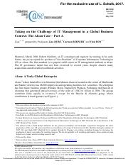 Taking on the Challenge IT Management in a Glob al Business Context: The Alcan Case – Part A.pdf
