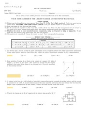 Spring 2013 Practice Exam 3 (Ch. 16-25) w/ solutions