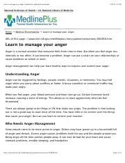 Ch. 3 Managing Anger