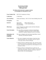 History 101.01 Fall Semester Syllabus 2010 (1)
