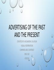 Advertising of The Past and the Present