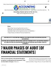 7 Major Phases of Audit [of Financial Statements] | Accounting, Financial, Tax.pdf