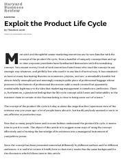 Exploit the Product Life Cycle.pdf