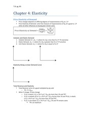 Chapter 4 - Elasticity