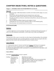 Notes for Enviornmental Quality_2014