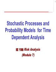 IE198 Notes Set 2 for Exam 2 - Stochastic Processes