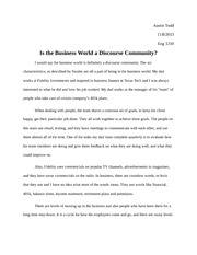 Essay on the Business World