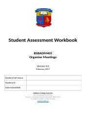 BSBADM405__Organise Meetings__Assessment.docx
