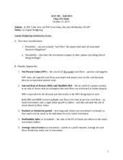 Class 25 10-21-15 Notes