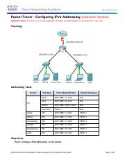 7.2.4.9 Packet Tracer - Configuring IPv6 Addressing - ILM