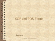 SOP and POS Forms