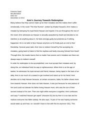 The kite runner essay