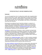 SMHM 2 Nutrition Policy