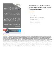 the best american essays fifth college edition Best american essays fifth college editionpdf free download here from idea to essay 13th edition pdf  from idea to essay 13th edition pdf free dallas best.