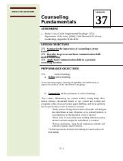 PL100 AY15 LSN 37 Counseling Fundamentals.docx