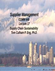 Lecture 17 SCM Sustainability