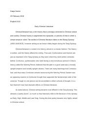 Early Chinese Literature.docx