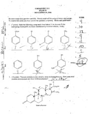 CHEM2211 Exam 4 2006 another