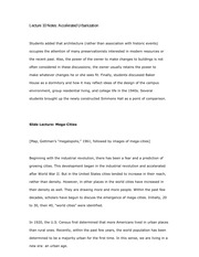 Lecture 10 Notes Accelerated Urbanization