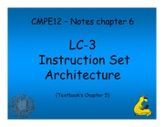 Chapter 6 Notes - LC-3 Instruction Set Architecture