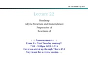 Lecture 22-Rxns of alkynes