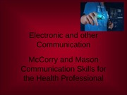 Electronic and other Communication 2013
