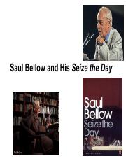 saul bellow and seize the day