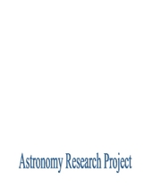 astronomy research project