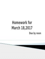 Homework for 18 March,2017.pptx
