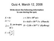 Quiz 4 Answers, 3-12-08