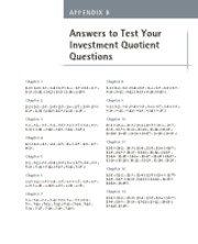 Answers to Test Your Investment Quotient, 3rd edition