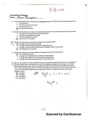 Quiz on Accounting Changes