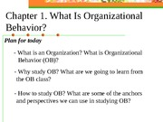Lecture 1 (Chapter 1 Intro to OB)