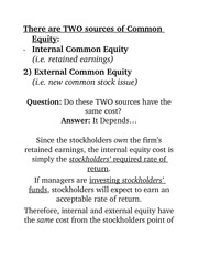 TWO sources of Common Equity