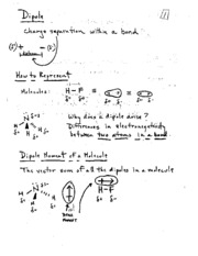 Dipole Lecture Notes