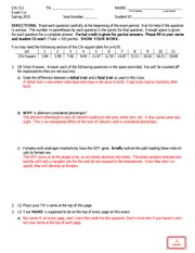 Exam 1-y Answers Spring 2015