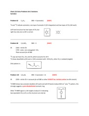 CHEM 213 Fall 2013 Extra Practice Problem Set 2 Solutions