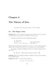 Chapter 3 - The Theory of Sets
