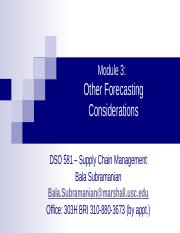 Module 3 - Other Forecasting Considerations.pptx