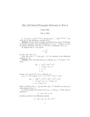 MAT244 Practice Test 2 Summer 2013 Solutions