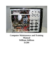 it280 computer maintanence and training manual 23112017 it280 computer maintanence and training manual 5725 words | 23 pages computer maintenance and training manual table of content chapter 1.