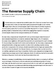 The Reverse Supply Chain