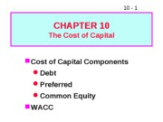 10 The Cost of Capital