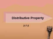 1.4 Distributive Property