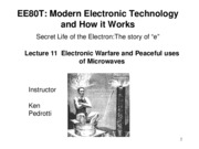 Lecture11-Electronic Warfare and Peaceful uses of microwavesMicrowaves.pdf