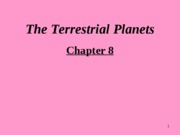 Chapter 8.The Terrestrial Planets
