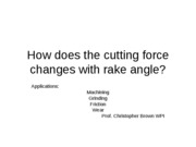 How does the cutting force changes with rake
